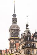 Historic Tower in Dresden - stock photo