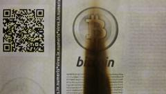 Bitcoin paper burning Stock Footage