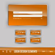 Login Template - stock illustration