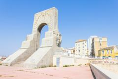 Historic War Monument in Marseilles, France Stock Photos