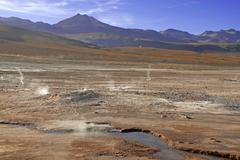 Stock Photo of Barren volcanic landscape of the Atacama Desert, Chile
