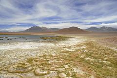 Barren volcanic landscape of the Atacama Desert, Chile - stock photo