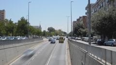 Dense Traffic Circulation - stock footage