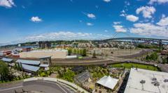 Portland City Industrial Area Stock Footage