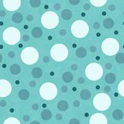 Stock Illustration of Green and White Polka Dot Tile Pattern Repeat Background