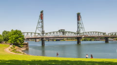 Portland City Waterfront Stock Footage