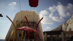 Cable car at Rosh Hanikra, Israel Lebanon border Stock Footage