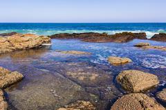 Ocean Rocks Tidal Pools - stock photo