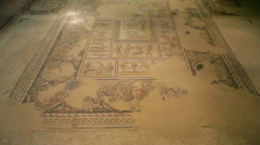 Sepphoris, Mona Lisa of the Galilee, ancient mosaic, Zippori, Israel Stock Footage