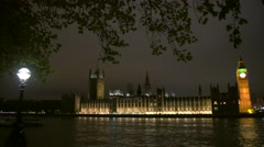 Big Ben Clock Tower and Parliament house Stock Footage