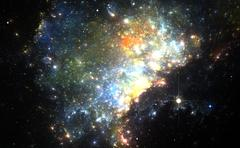 Stock Illustration of Colorful Nebula in Deep Space