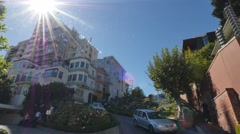 Driving Down Lombard Street in San Francisco Stock Footage