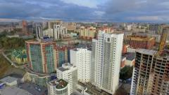 Aerial view of the city of Novosibirsk - stock footage