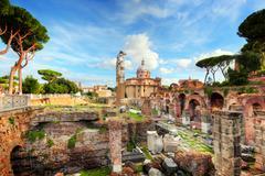 The Roman Forum, Italian Foro Romano in Rome, Italy Stock Photos