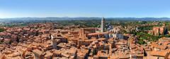 Stock Photo of Siena, Italy panorama. Siena Cathedral, Duomo di Siena. Tuscany region