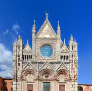Siena Cathedral, Duomo di Siena in Siena, Italy, Tuscany region. Stock Photos