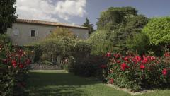 Provençal House with rose garden, Nice - stock footage