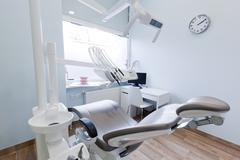 Dentist's office. Dental equipment, modern, clean interior Stock Photos