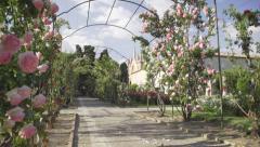 Rose garden in Cimiez Monastery, Nice - stock footage