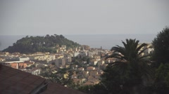 View of Nice, French riviera Stock Footage
