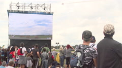 People attend 55th anniversary event of the Frecce Tricolori - stock footage