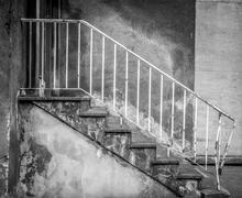Obsolete stairs - stock photo