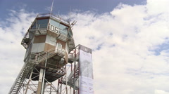 Control tower at Rivolto airport, Italy Stock Footage