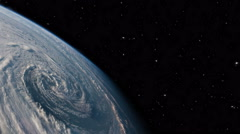 Hurricane view from space - 4K Stock Footage