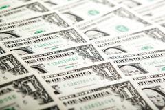 background heap of dollars - stock photo