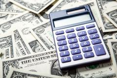 accounting in the money - stock photo