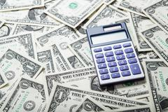 Accounting in the money Stock Photos