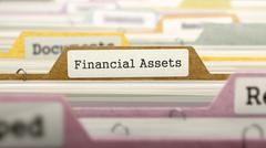 Financial Assets - Folder Name in Directory Stock Illustration