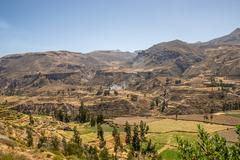 Hills in the Andes, Peru - stock photo