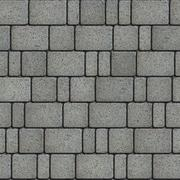 Concrete Gray with the Effect of Marble Pavement Laid as Squares and Rectangles - stock illustration