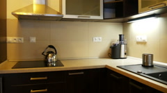 Sideboard in a Modern Kitchen Stock Footage