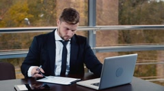 Success in business, good news - stock footage