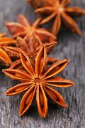 Heap of anise stars - stock photo