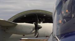 Detail of the cockpit of the Frecce Tricolori plane in Rivolto, Italy Stock Footage