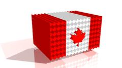 Canada flag from maple leafs Stock Illustration