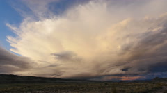 Thunderstorm Storm Weather Cell Time Lapse Over Desert Stock Footage
