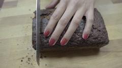 4 x slo-mo cutting cake Stock Footage
