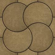 Sand Color Pavement in the Form of a Circle Stock Illustration