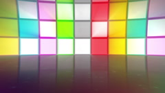 Discotheque stage multicolor flickering lights - 1080p Stock Footage