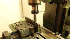 Production of parts for milling machine Stock Footage