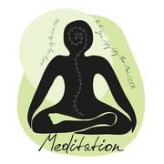 Meditation is the chemistry - stock illustration