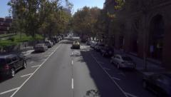 High Angle View Driving on Battery Street San Francisco - stock footage