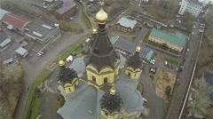Russia, Nizhniy Novgorod, october- cathedral Aleksandra Nevskogo dome Stock Footage