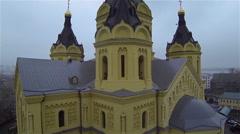 Russia, Nizhniy Novgorod, october - cathedral Aleksandra Nevskogo dome Stock Footage