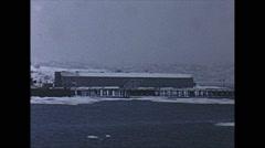 Vintage 16mm film, 1956, coastal Alaska, Valdez AK Stock Footage