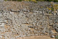 Kaunos amphitheatre  from Dalyan, Turkey Stock Photos